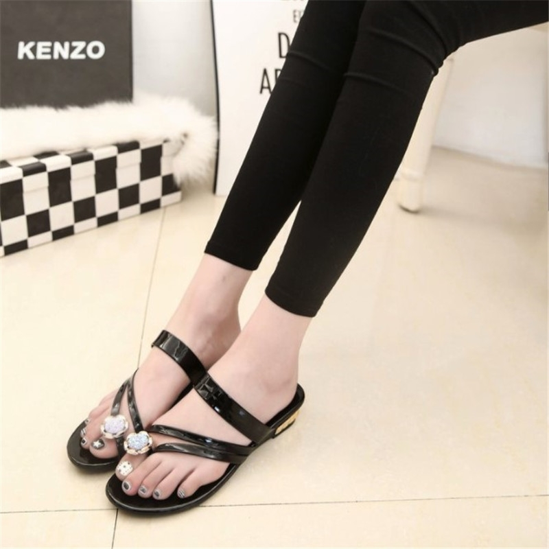 c542a6e602127 Summer Simple Clip Toe Women s Casual Sandals Street Patting Joker Students  Comfortable Slippers black 35  Product No  2666845. Item specifics  Brand