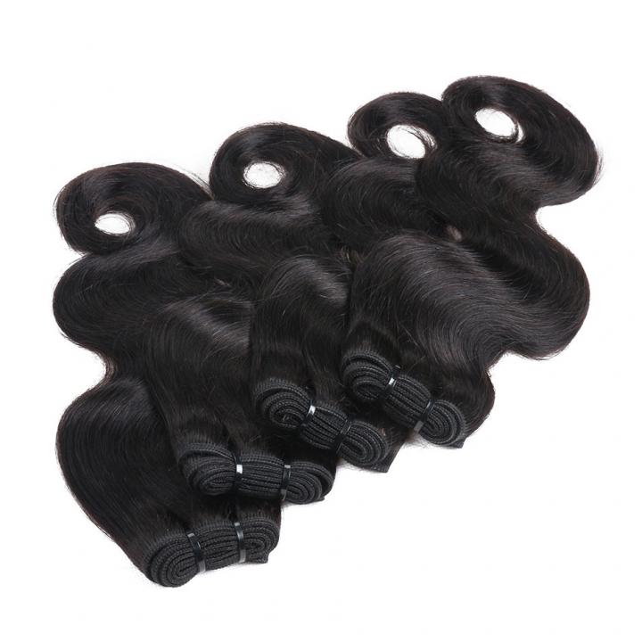 BHF Malaysian Body Wave 8A Hair Weave 4 Bundles 8-24 Inch Natural Black Human Virgin Hair  50g/PCS natural black 14 14 14 14