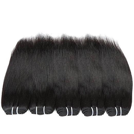 """BHF Human Virgin Hair 4 Bundles Malaysian Straight Hair 50g/pcs 8""""-24"""" Natural Color Hair Extension natural black 8 8 8 8"""