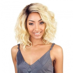 BHF T1b/613 Ombre Blonde 5 Bundles With Closure 8Inch Dark Roots Black And Blonde Bundle 2 Tone Hair t1b/613 8