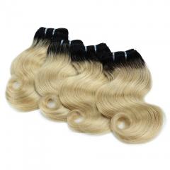 BHF Brazilian Virgin Hair Body Wave 4 bundles T1B/613 Ombre Hair Bundles 8inch Human Hair Extension t1b/613 8 8 8 8
