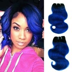 BHF 1b/Blue Human Virgin Hair Extensions 1 Bundle 8