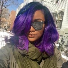 BHF Pre-Colored Ombre Brazilian Body Wave Hair T1B/Purple Color Short Human Hair Bundles 8