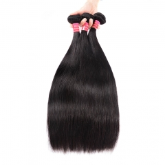 BHF Malaysian Virgin Hair Straight 100% Human Hair Bundles 3pcs/lot 8-26