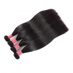 9A Unprocessed Virgin Hair Brazilian Straight Hair 10 Bundles 100% Human Hair Bundles Natural Black natural color 8