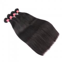 4 Bundles Indian Virgin Hair Straight hair Bundles 100% Human Hair Extension Double Weft No Shedding natural color 8 8 8 8