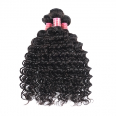 BHF Indian Deep Wave 100% Human Hair Weave Bundles 8