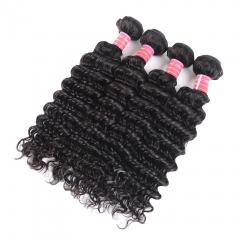 BHF Brazilian Hair Weave Bundles Deep Wave 10pcs Curly Weave Human Hair 100g/pc Natural Black 8