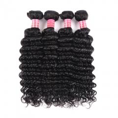 BHF 9A Unprocessed Peruvian Virgin Hair Deep Wave Bundles 8-26Inch 10pcs/lot 100% Human Hair Bundles natural color 8
