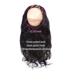 360 Full Lace Frontal Closure Bleached Knots With Baby Hair Indian Body Wave Hair 8