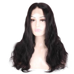 BHF Pre Plucked Peruvian 4*4 Lace Front Human Hair Wigs Natural Body Wave  Lace Human Hair Wigs natural black 14