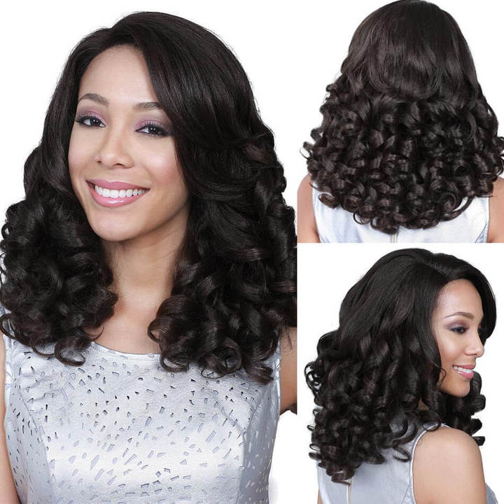 BHF Brazilian Fummi Wave 100% Human Hair extension Weave Bundles 50G/pc Remy Human Hair Weaves natural black 10