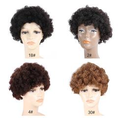 BHF 4 Color Short Curly Wigs 100% Human Hair Short Fashion Wig For Fashion Women Free shipping 1B 8