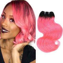 BHF Brazilian Hair Weave Bundles Body Wave Human Hair 1 Bundle T1B/Pink Ombre Hair Extensions 8inch T1b/pink 8