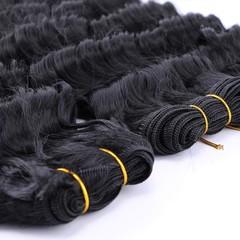 Malaysian Deep Wave Real Human Hair 3 Bundles 10A Unprocessed Virgin Hair Deep Wave Bundles Natural Black 8 8 8