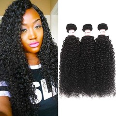 100% Unprocessed Brazilian Kinky Curly Virgin Hair 3 Bundles 9A Curly Virgin Human Hair Extensions Natural Black 8 8 8