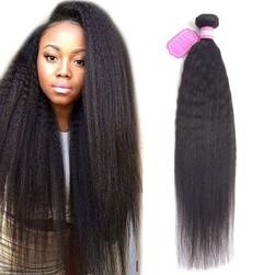 9A Brazilian Kinky Straight Human Hair 3 Bundles 100% Unprocessed Virgin Human Hair Natural Color Natural Black 8 8 8