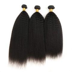 9A Grade Kinky Straight 3 Bundles Unprocessed Virgin Human Hair No Tangle No Shedding Natural Color Natural Black 8 8 8