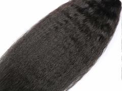 Malaysian 9A Kinky Straight 3 Bundles Unprocessed Virgin Human Hair Weave Extensions Natural Color Natural Black 8 8 8