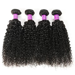 BHF 100% Unprocessed Virgin Brazilian Kinky Curly Hair 4 Bundles Kinky Curly Human Hair Extensions Natural Black 8 8 8 8