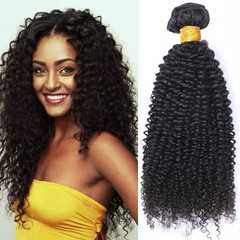 BHF Kinky Curly 4 Bundles Virgin Human Hair Curly Weave Extensions Natural Color Can Be Dyed Natural Black 8 8 8 8