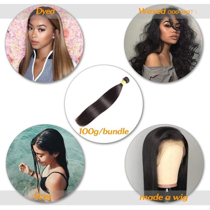 9A Brazilian Straight 3 Bundles With Closures Unprocessed Virgin Human Hair With Lace Closure free Part 8*3+8