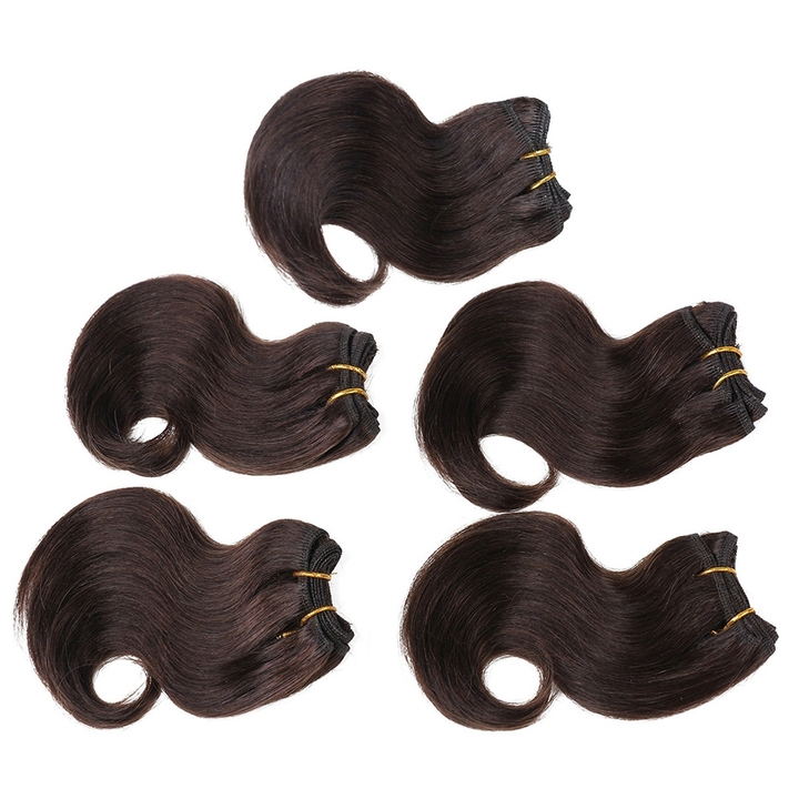"BHF Brazilian Virgin Hair Body Wave 2# 8"" Raw Unprocessed 5 Bundles Human Hair Wave Bundles 2# 8"