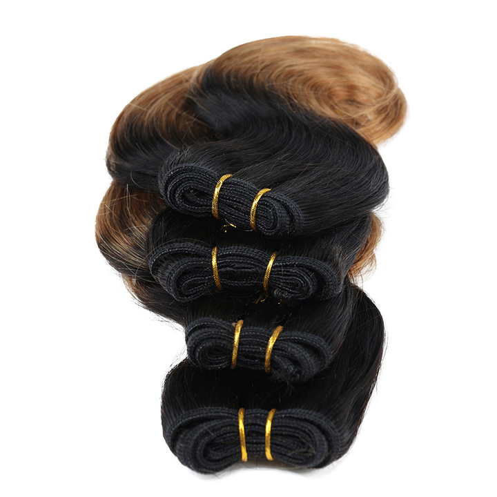 "BHF Peruvian Body Wave Hair 4 Bundles 1B/30 100% Human Hair Wave Peruvian Virgin Hair 8"" 1b/30 8"