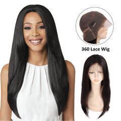 BHF Human Hair Wigs Straight Glueless Lace Front Human Hair Wigs 13x4 Ear to Ear Lace Frontal Wigs natural color 16