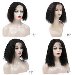 BHF Natural Wav 13*4 Ear To Ear Lace Frontal 100% Human Hair Bobo Wigs Virgin Human Hair natural black 8