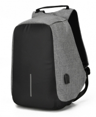 Third Generation USB Charge Anti Theft Backpack 15inch Laptop Backpacks Fashion Bags Bagpack Gray 15inch