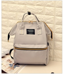 Multifunction Women Backpack Fashion Shoulder Bag Laptop Backpack Schoolbags For Travel Gray As picture
