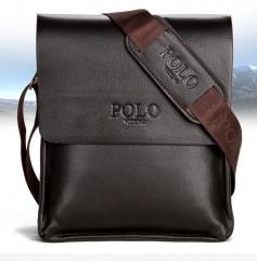 Leather Men Bag Casual Business Leather Mens Messenger Bag Vintage Men's Crossbody Bag Brown one size