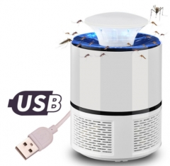USB Electronics Mosquito Killer Lamp Pest Control LED Light Lamp Bug Insect Repeller Zapper White As picture