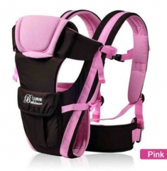 0-30 Months Breathable Front Facing Baby Carrier 4 in 1 Infant Comfortable Sling Backpack Pink One size