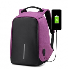 Third Generation USB Charge Anti Theft Backpack 15inch Laptop Backpacks Fashion Bags Bagpack Purple 15inch