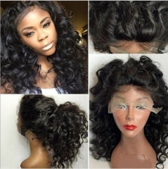 New Front Lace Wig Long Hair Small Curly Hair Fluffy Realistic Hair As picture 26 inches