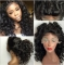 New Front Lace Wig Long Hair Small Curly Hair Fluffy Realistic Hair As picture 22 inches