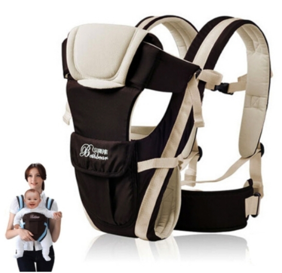 0-30 Months Breathable Front Facing Baby Carrier 4 in 1 Infant Comfortable Sling Backpack Beige one size