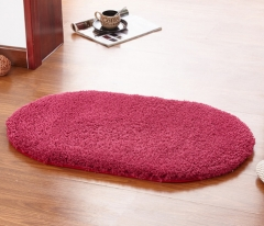40*60CM Anti-Skid Fluffy Shaggy Area Rug Home Room Carpet Bedroom Bathroom Floor Door Mat shag rugs wine red 40*60cm