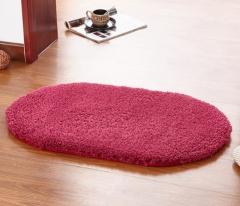 40*60CM Anti-Skid Fluffy Shaggy Area Rug Home Room Carpet Bedroom Bathroom Floor Door Mat shag rugs wine red 40*60cm