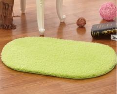 40*60CM Anti-Skid Fluffy Shaggy Area Rug Home Room Carpet Bedroom Bathroom Floor Door Mat shag rugs green 40*60cm
