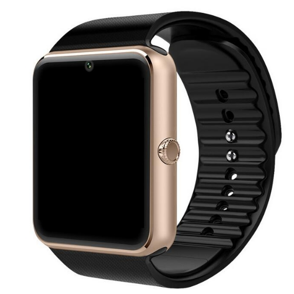 Smart Watch Clock Sync Notifier Support Sim TF Card Bluetooth Connectivity Android Phone Smartwatch golden as picture