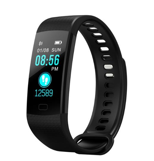 Smart Bracelet Wristwatch Heart Rate Monitor Blood Pressure Fitness Tracker Smart band Sport Watch black as picture