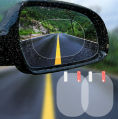 2PCS/Set Car Sticker Anti Fog Rearview Film Car Mirror Window Clear Film Membrane Waterproof One Color Round