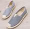 New Fisherman Shoes Women Flat soled Comfortable Single Shoes blue stripes 36