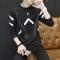 Men's long sleeve T-shirt breathable fleece thin fitness leisure long sleeve hooded BoWei garments Barb black xl