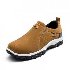 New men's youth shoes sports men's shoes hiking shoes flat shoes thick non-slip shoes suede shoes yellow 44 (27cm)