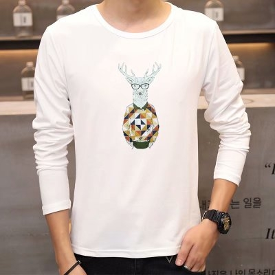 b5d01445a4def7 Kilimall  New male violent boxing cat print personality round neck ...