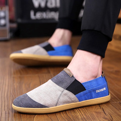 2018 summer breathable men's canvas shoes lazy shoes a pedal set foot casual men's daily shoes gray 40